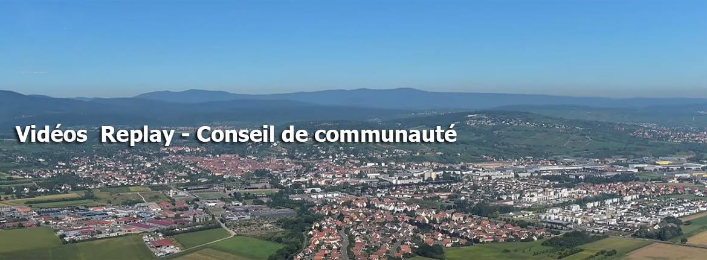 videos replay conseil communauté